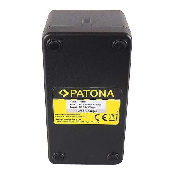 Patona Schnellladegerät für Sony NP-F550 NP-F750 NP-F960