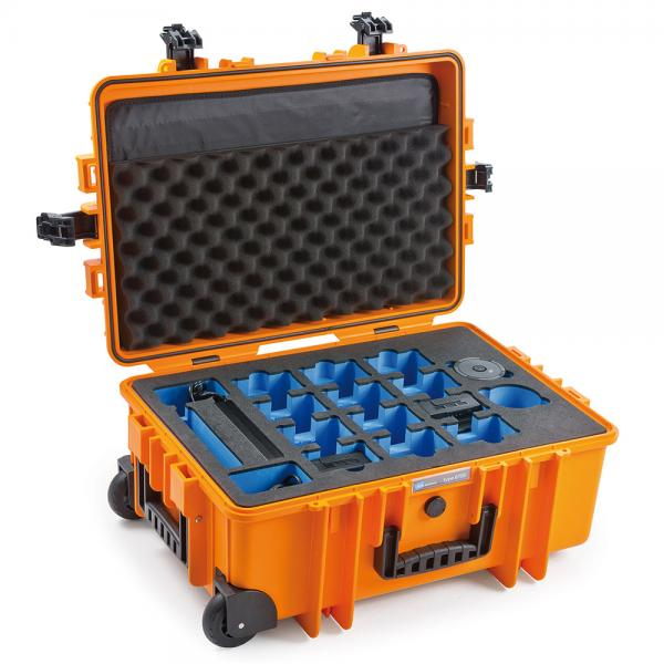 B&W Case 6700 für Inspire 2, Ronin 2, Matrice Akkus & Ladehub orange