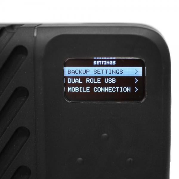 GNARBOX2.0 SSD Backup-Festplatte App-gesteuert stand-alone
