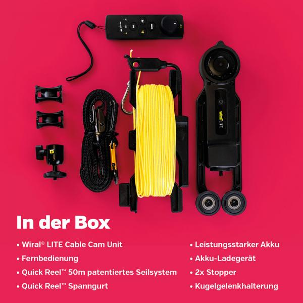 Wiral LITE Kit Cable-Cam inkl. Fernsteuerung REFURBISHED