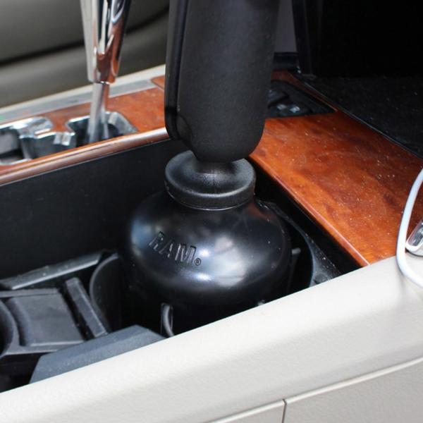 RAM Mounts Verbundstoff Getränkehalterbasis mit Gummilippen - B-Kugel RAP-B-299-4U