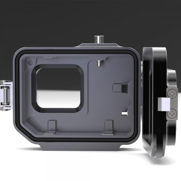 T-HOUSING Aluminium Tieftauchgehäuse V2 für HERO5-7 Black