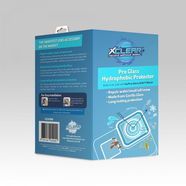 xclear Pro-Glass Hydrophobic Protector für HERO5-7 Black